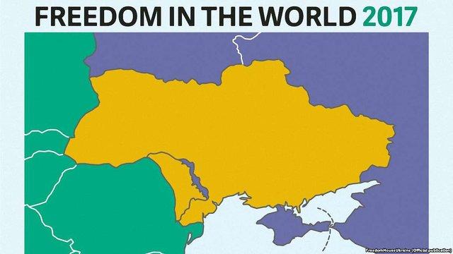 Freedom House прокоментувала появу карти України без Криму в своєму звіті