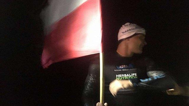 26-річний поляк став першою людиною, яка перепливла Балтійське море