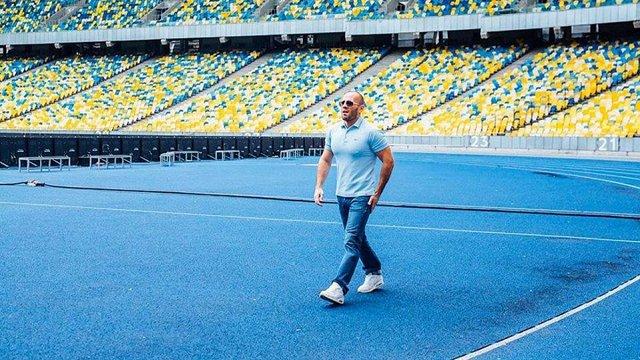 Голлівудський актор Джейсон Стетхем приїхав на рекламні зйомки до Києва
