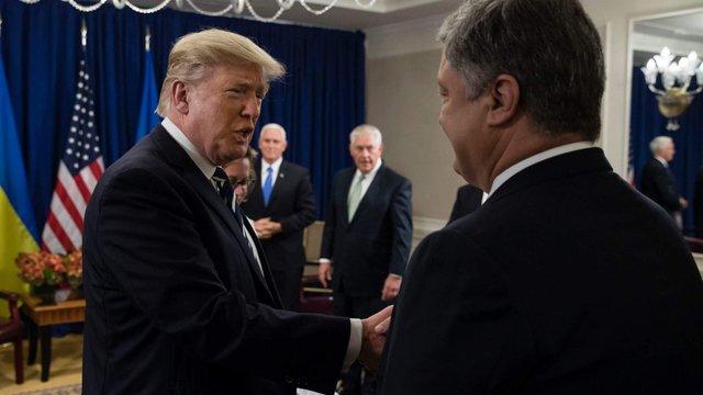 Трамп закликав Порошенка усунути корупцію та покращити бізнес-клімат