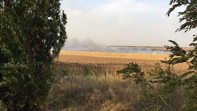 Причиною пожежі на складі боєприпасів поблизу Маріуполя став підпал стерні на сусідньому полі