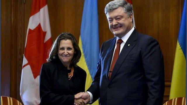 Петро Порошенко і МЗС Канади скоординували підходи щодо місії ООН на Донбасі