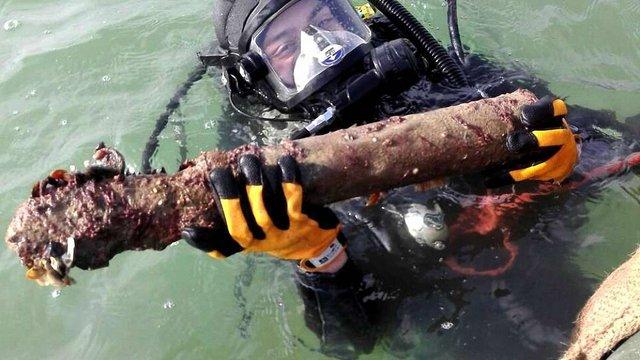 Під Одесою розміновують затонуле німецьке судно часів Другої світової війни