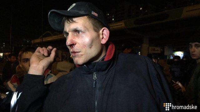 У сутичках на протесті біля розгромленої АЗС у Києві постраждали 14 людей