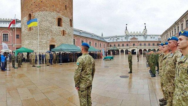 Бригада «ЛитПолУкрбриг» отримала бойове знамено
