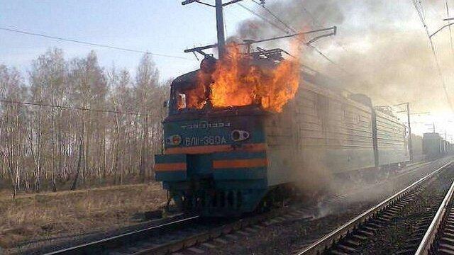 На Миколаївщині під час руху загорівся локомотив пасажирсього потяга