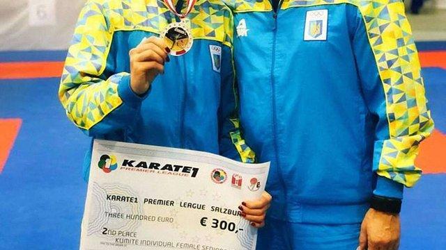 Львівська каратистка Катерина Крива здобула срібло на турнірі в Австрії