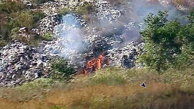 На Грибовицькому сміттєзвалищі виникла нова пожежа