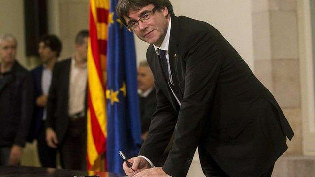 Лідер Каталонії підписав декларацію про незалежність