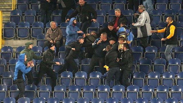 Нардеп Юрій Береза побився на футбольному матчі з фанатами «Дніпра»