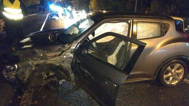 Вночі на Кульпарківській зіткнулися три попутні машини