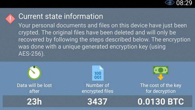 Компанія Eset виявила перший вірус, який блокує екрани смартфонів і вимагає гроші