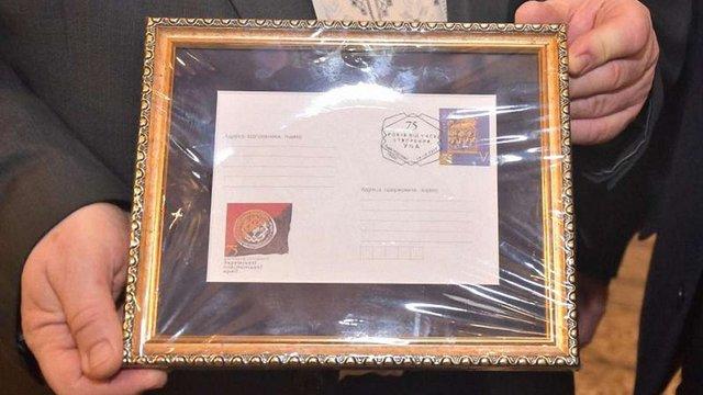 З нагоди 75-річчя створення УПА у Львові відбулось спецпогашення поштової марки
