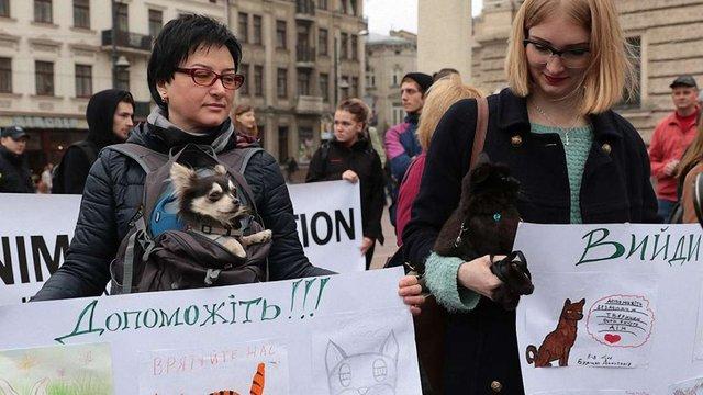 У Львові відбувся перший марш за права тварин