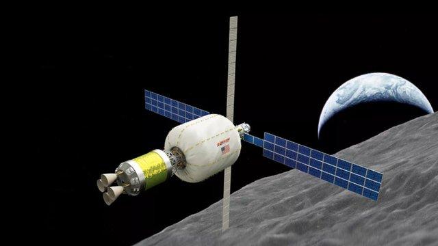 На орбіту Місяця планують вивести надувну космічну станцію
