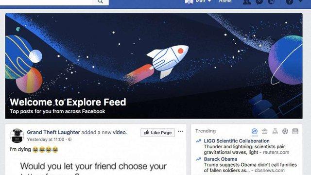 Facebook запустив додаткову стрічку новин для користувачів