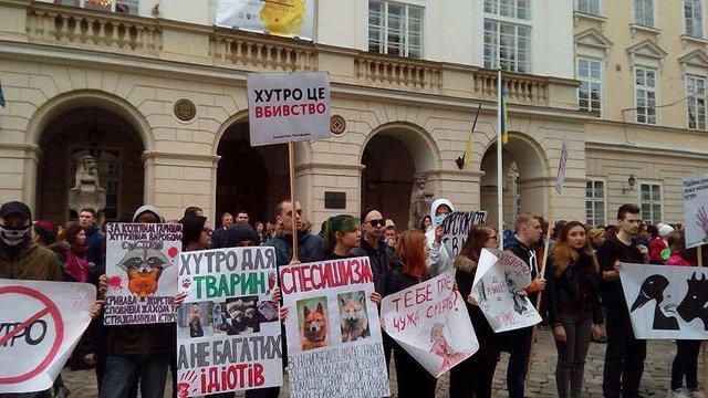 У Львові вдруге за цей місяць відбулась акція на захист тварин