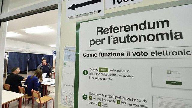 Два найбагатші регіони Італії проводять референдуми за розширення автономій