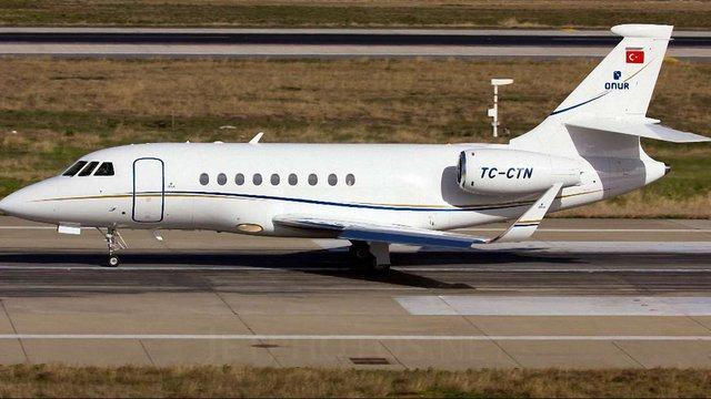 Приватний літак для Синютки надав турецький Onur