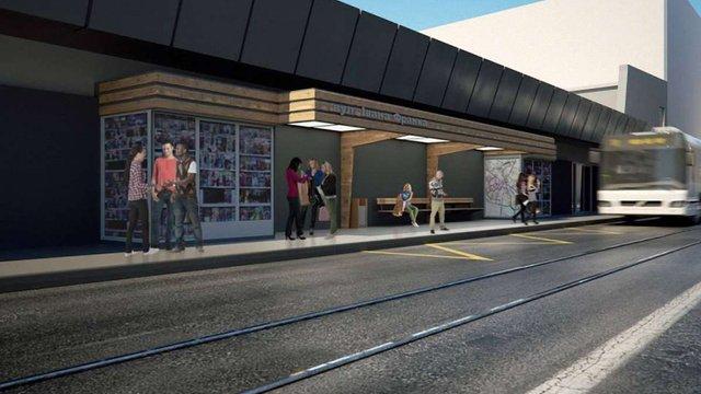 Біля Стрийського ринку облаштують дві зупинки громадського транспорту під накриттям