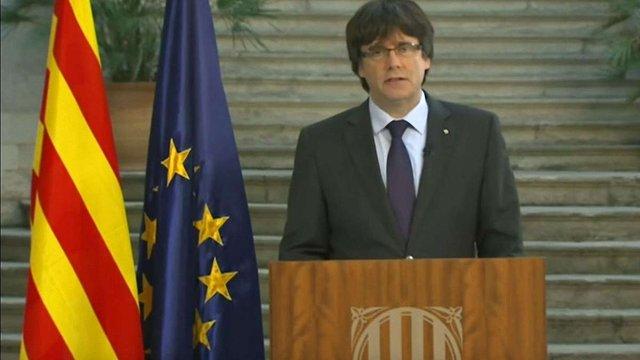 Лідер Каталонії закликав мирно захищати незалежність