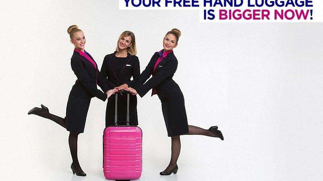 Wizz Air збільшив розміри безкоштовної ручної поклажі