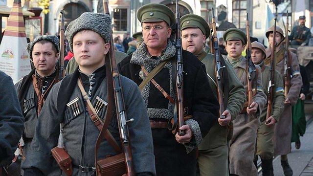 Центральними вулицями Львова пройшов марш слави ЗУНР
