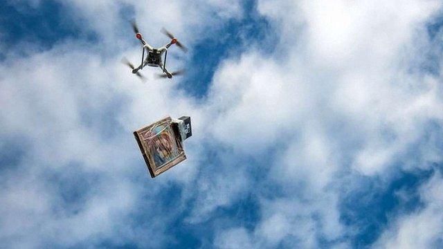 Для протидії криміналу у селі під Одесою використали квадрокоптер з іконою