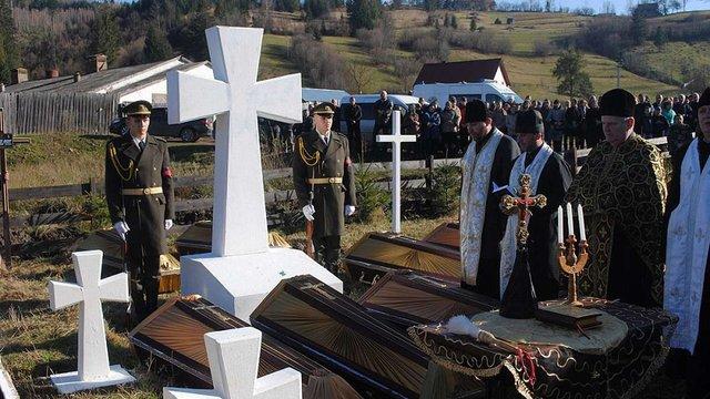 На Сколівщині перепоховали останки вояків І Світової війни