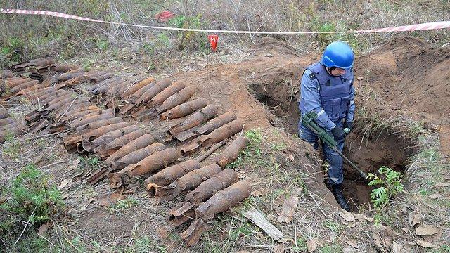 На Миколаївщині чоловік на городі розкопав 65 авіабомб