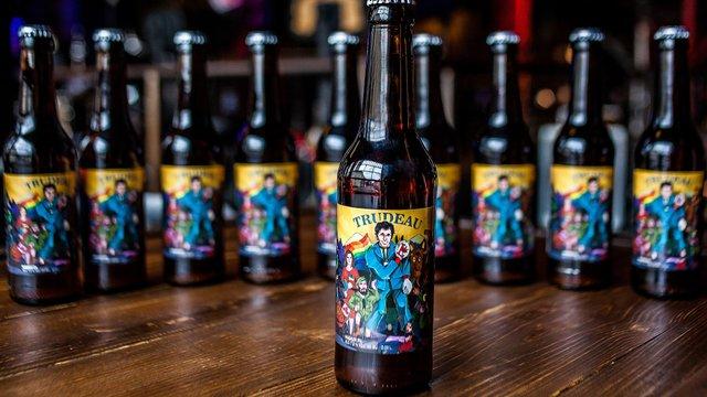 У Львові випустили пиво на честь канадського прем'єр-міністра Джастіна Трюдо