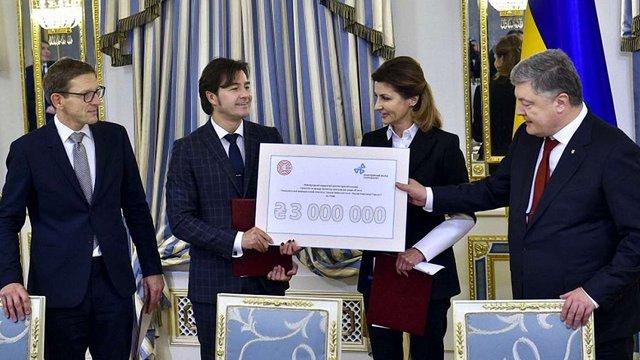 Сім'я Порошенків подарувала ₴3 млн на проект Музею Революції Гідності