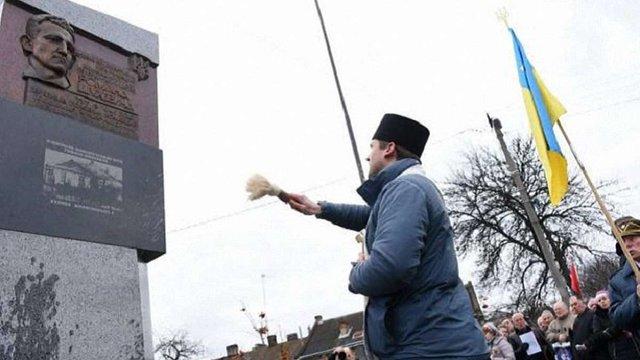 У Львові відкрили пам'ятний знак Роману Шухевичу