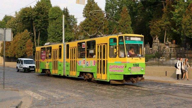 На двох трамвайних гілках у Львові протягом дня курсує менше вагонів