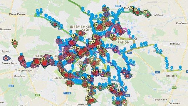 Близько чверті львівських маршруток неможливо відстежити онлайн через несправні GPS-трекери