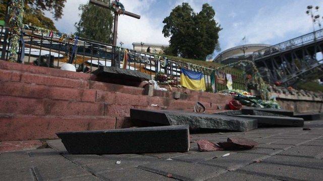 За пошкодження меморіалу Небесній сотні у Києві кримчанина засудили на чотири місяці