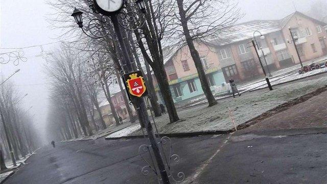 В Нововолинську невдовзі після відкриття зупинився міський годинник за ₴85 тис.