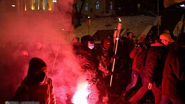 Понад 200 людей пройшли колоною центром Києва у річницю розгону студентів на Майдані