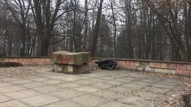 У Львові невідомі пошкодили пам'ятник комуністу Великановичу