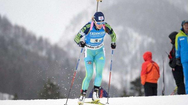 Українська біатлоністка Юлія Джима на другому місці в загальному заліку Кубка світу