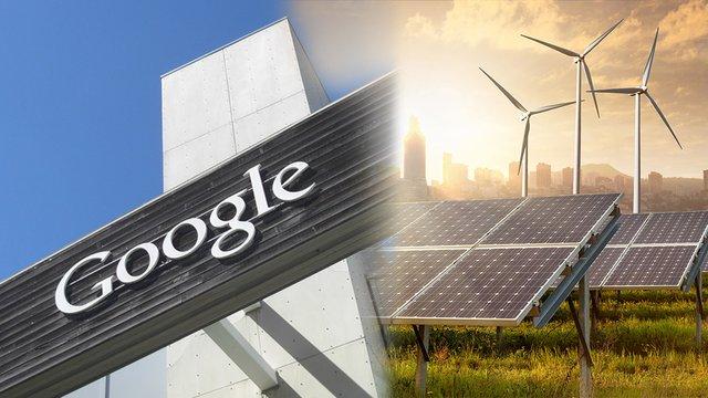 Компанія Google повністю перейшла на відновлювану енергію