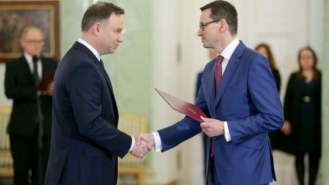 Анджей Дуда  призначив Матеуша Моравецького новим прем'єр-міністром Польщі