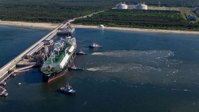 Україна вперше отримала американський скраплений газ через термінал в Польщі