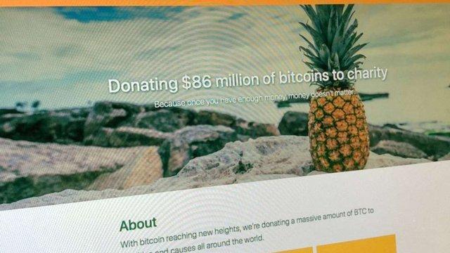 Анонімний мільйонер пожертвував на благодійність $86 млн у біткоїнах