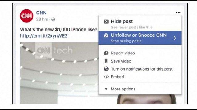 Facebook запровадив нову функцію приховування публікацій друзів у стрічці новин