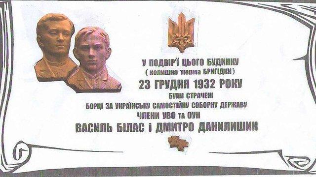 На фасаді СІЗО у Львові встановлять таблицю страченим діячам ОУН Біласу та Данилишину