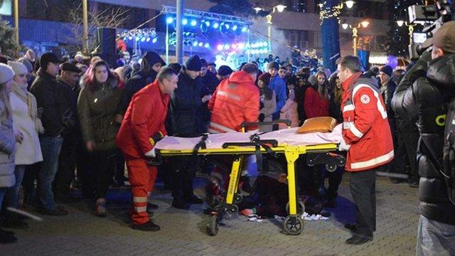 В Івано-Франківську петарда влучила в голову студентки під час відкриття міської ялинки