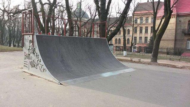 Скейт-майданчик на вул. Винниченка відремонтують до кінця року