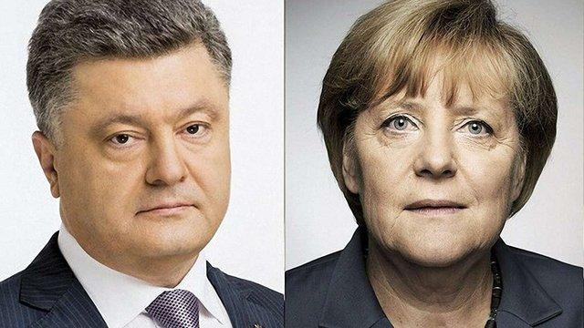 Порошенко і Меркель обговорили, як відновити роботу СЦКК на Донбасі
