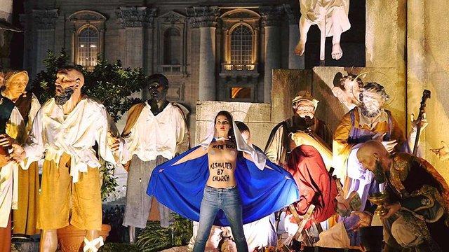 Учасниці Femen провели акцію під час різдвяної меси у Ватикані